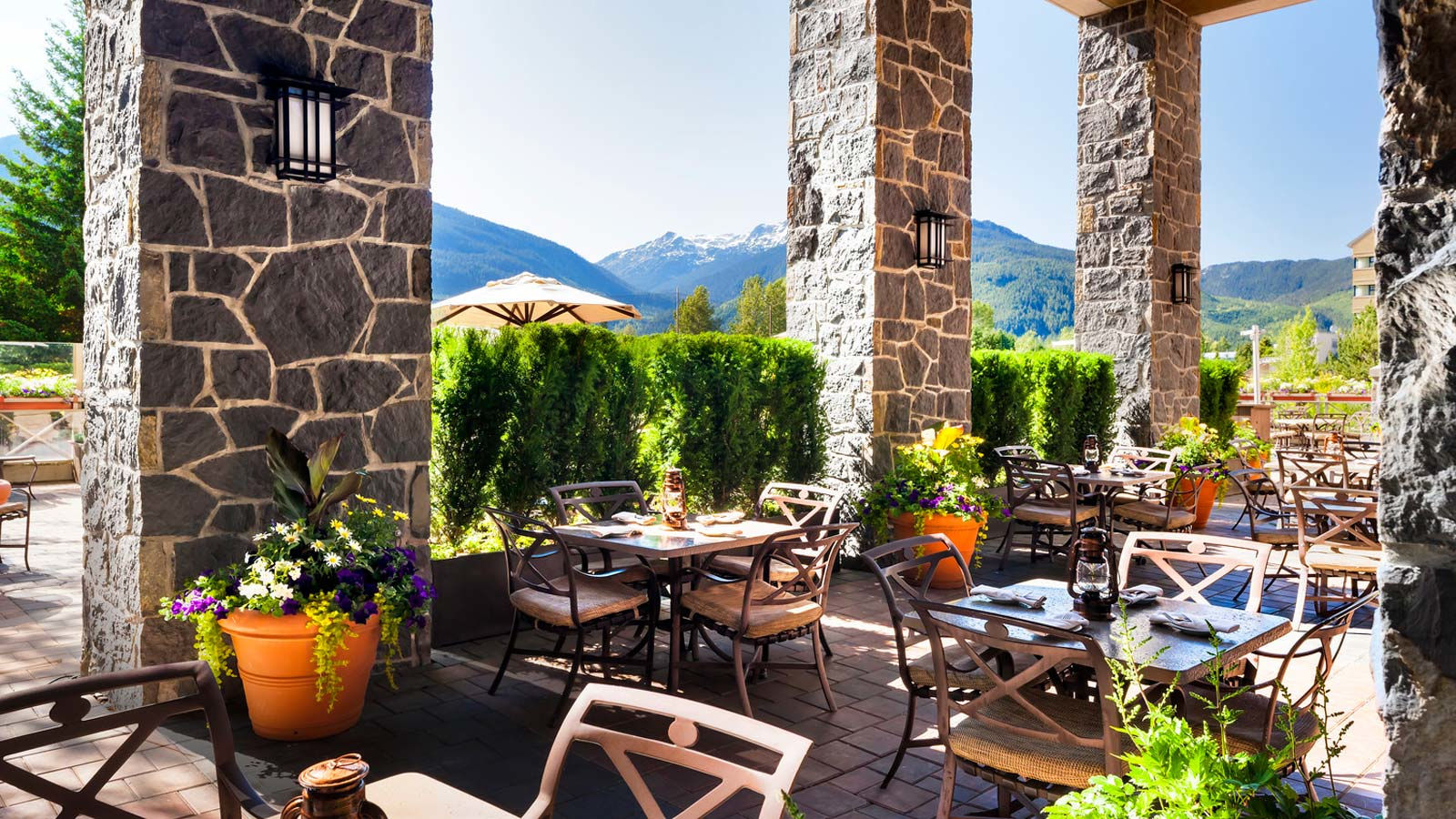 Whistler Wedding Room Blocks - Grill & Vine Patio