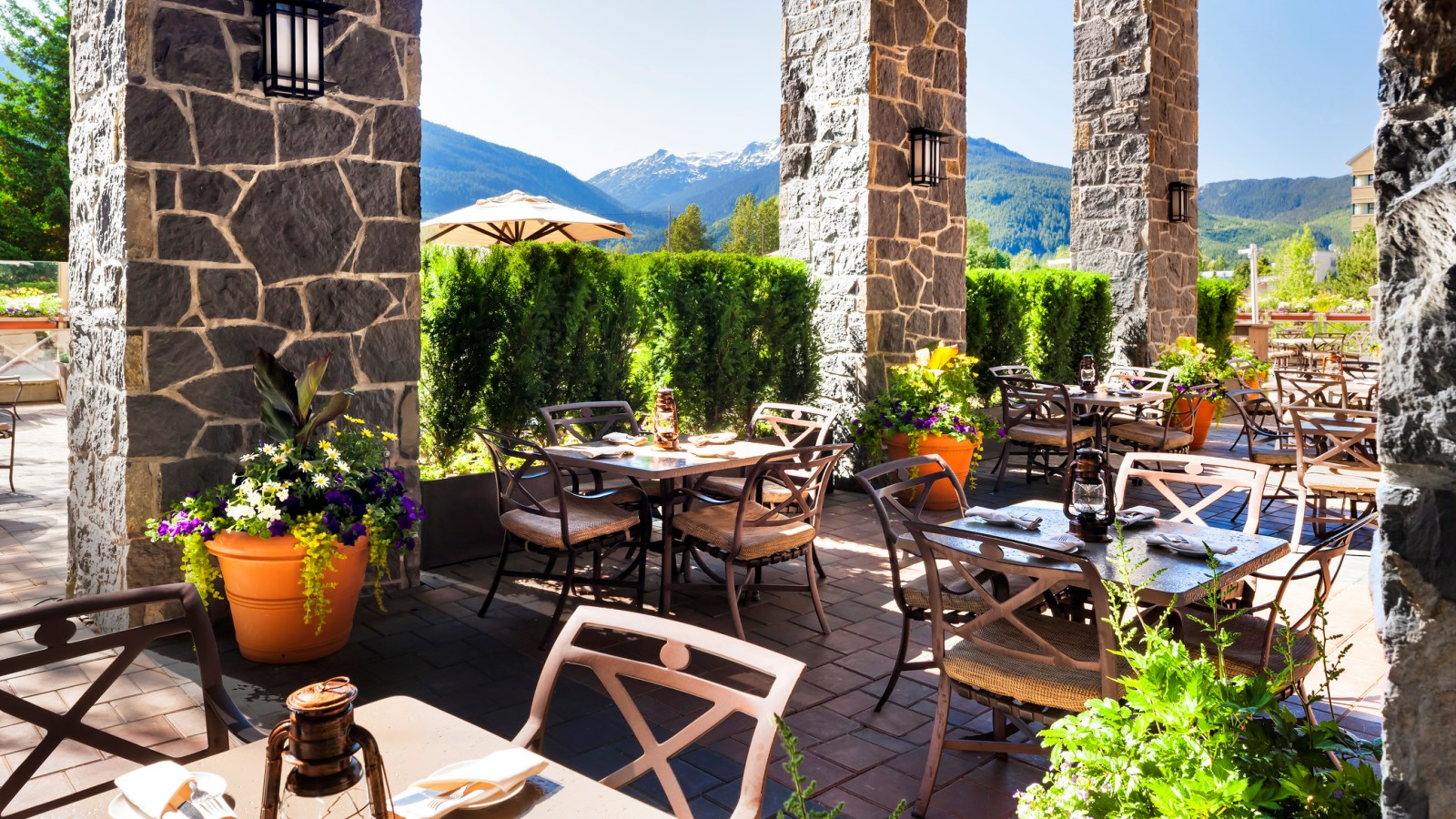 Whistler Meetings - Grill & Vine Restaurant Outdoor Patio